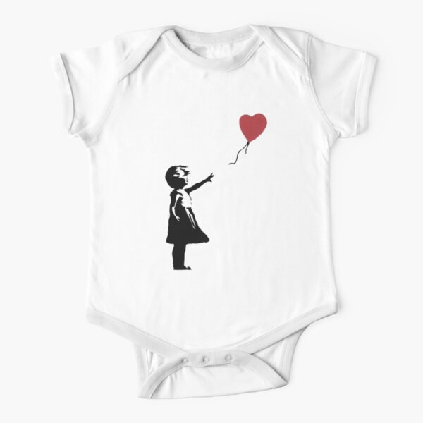 Girl With Balloon Banksy Short Sleeve Baby One-Piece