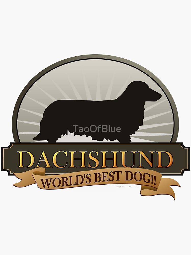 World's Best Dog - Dachshund (Long Haired) by TaoOfBlue
