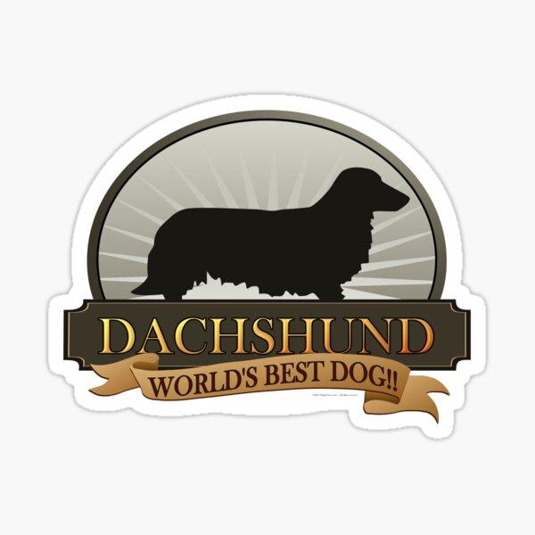 World's Best Dog - Dachshund (Long Haired) Sticker