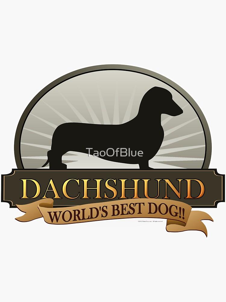 World's Best Dog - Dachshund (Smooth) by TaoOfBlue