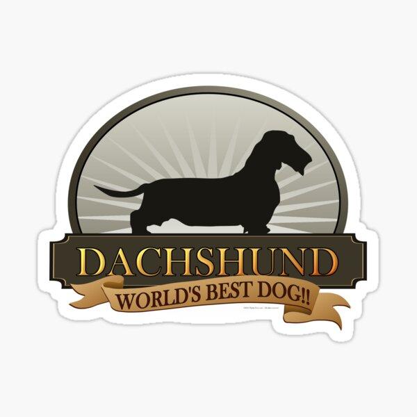 World's Best Dog - Dachshund (Wire-haired) Sticker