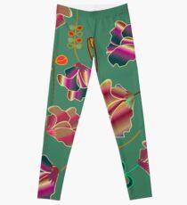 Vintage Flower Pattern Leggings