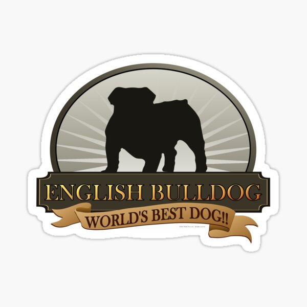 World's Best Dog - English Bulldog Sticker