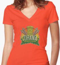 'Ohana means family ... Women's Fitted V-Neck T-Shirt
