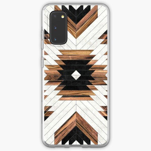 Urban Tribal Pattern No.5 - Aztec - Concrete and Wood Samsung Galaxy Soft Case