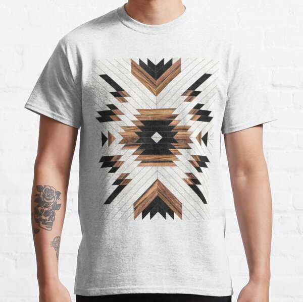Urban Tribal Pattern No.5 - Aztec - Concrete and Wood Classic T-Shirt