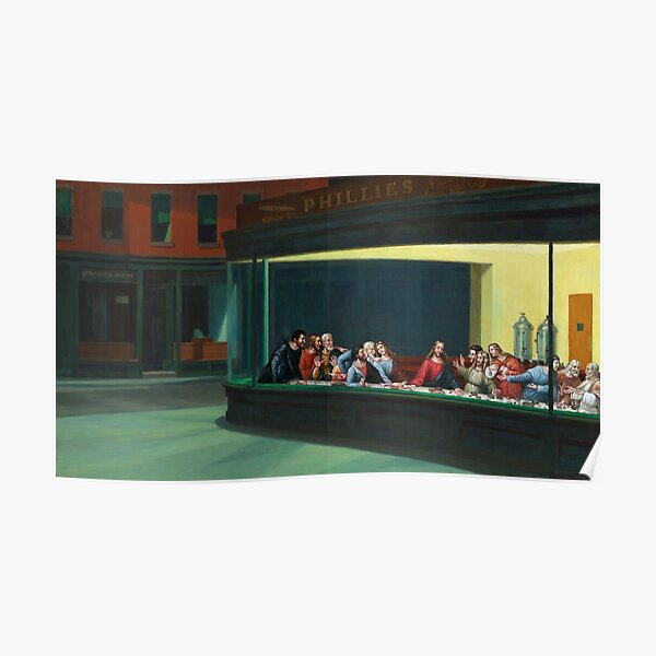 Nighthawks Last Supper Poster