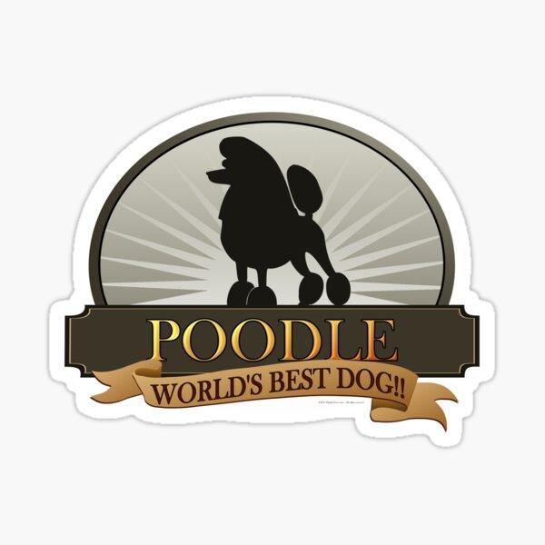 World's Best Dog - Poodle Sticker