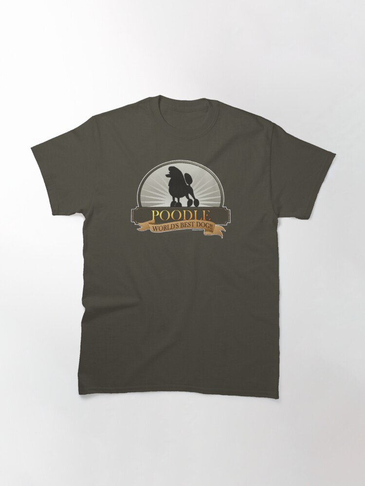 Alternate view of World's Best Dog - Poodle Classic T-Shirt