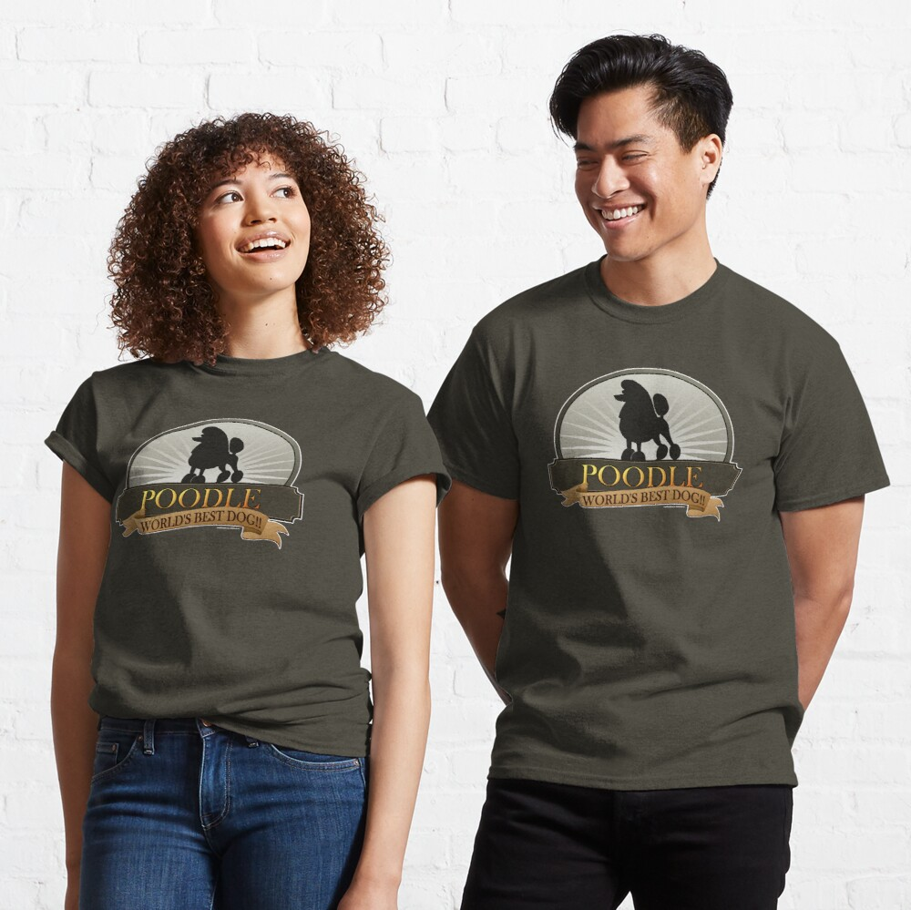 World's Best Dog - Poodle Classic T-Shirt