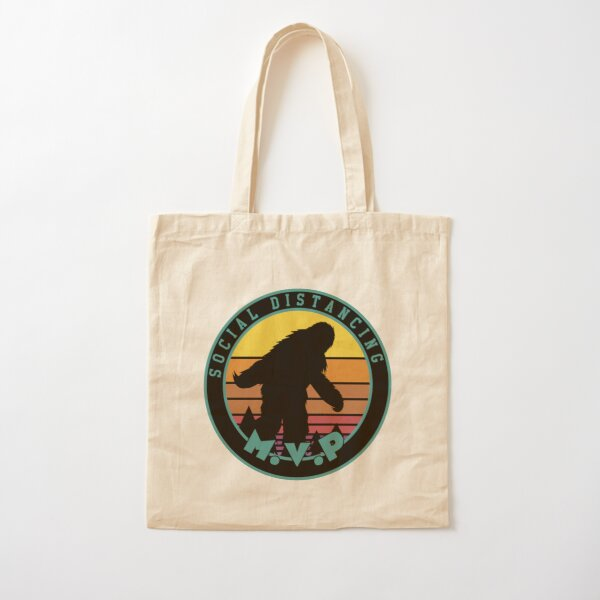 Bigfoot Social Distancing MVP Cotton Tote Bag