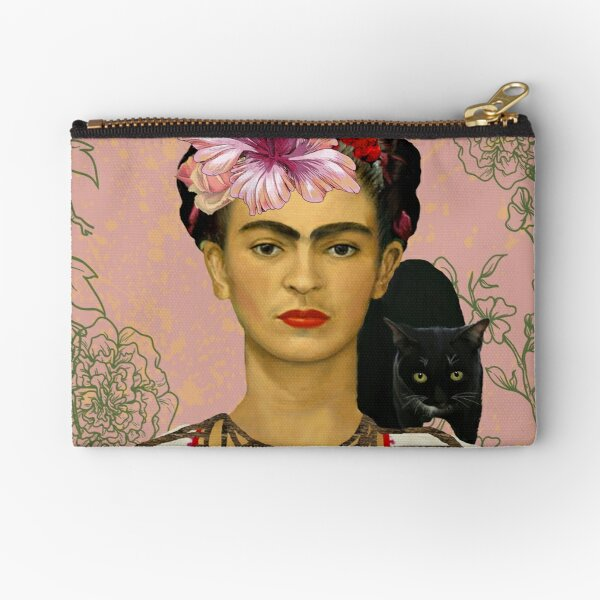 Frida Khalo Shower Curtain Zipper Pouch