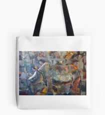 the SILVERY ANIMAL Tote Bag