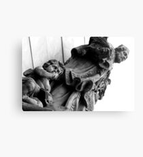 Shhhh! Sleeping Saint ... just read him a bed-time story ... Canvas Print