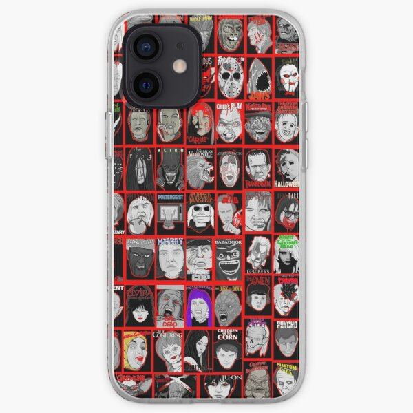 Faces of Horror Collage art iPhone Soft Case