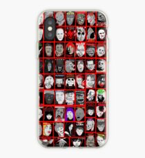 Faces of Horror Collage art iPhone Case