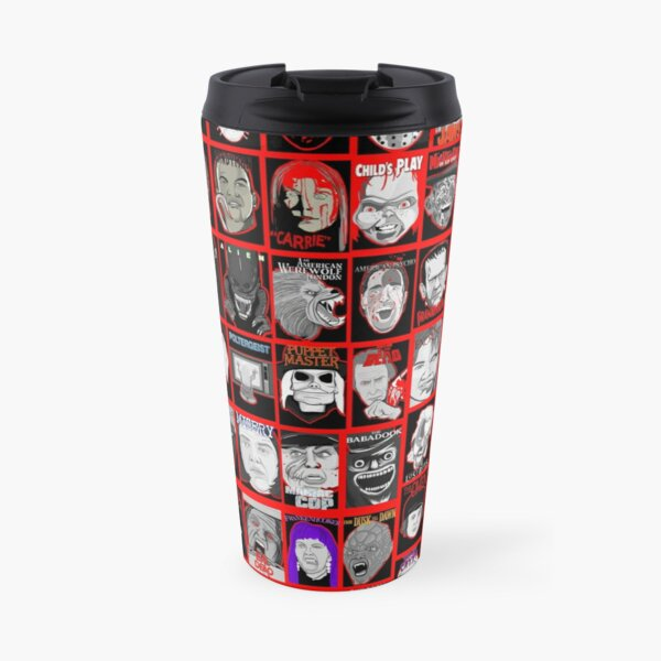 Faces of Horror Collage art Travel Mug
