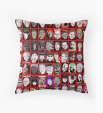 Cojín Arte del collage Faces of Horror