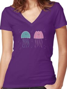 Jellyfish Women's Fitted V-Neck T-Shirt