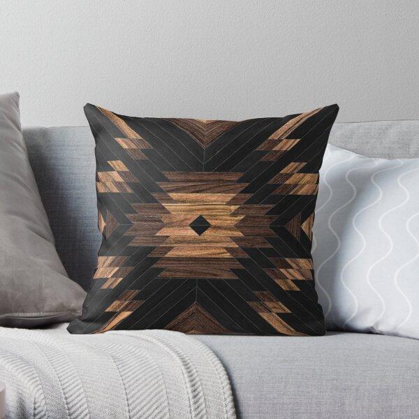 Urban Tribal Pattern No.7 - Aztec - Wood Throw Pillow