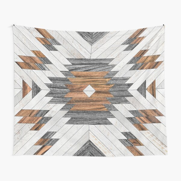 Urban Tribal Pattern No.8 - Aztec - Wood Tapestry