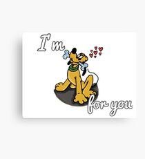 I'm Goofy For You Canvas Print