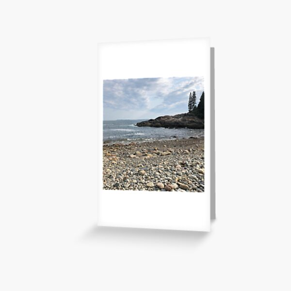 Little Beach in Maine Greeting Card