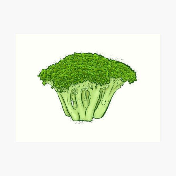Yes to Broccoli Art Print