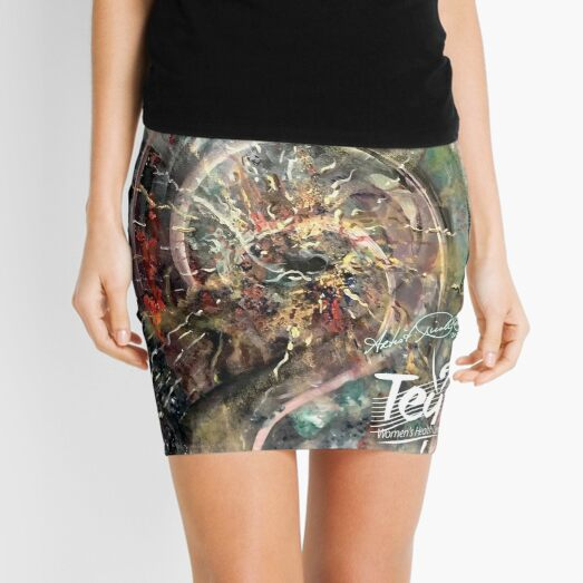 """(Tey Logo) """"Sacrifice For Love"""" artwork supporting health promotions for women's needs & care in the Rio Grande Valley Mini Skirt"""