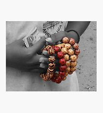 The Girl With The Beads Photographic Print