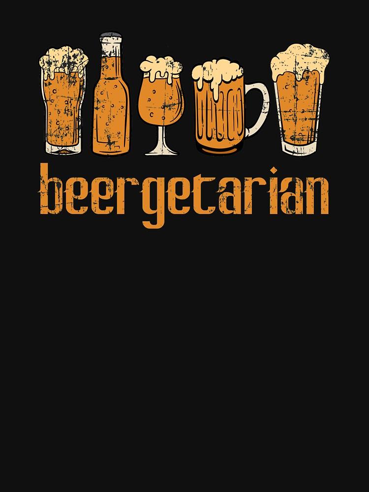 """Beergetarian"" Drunkard Drunk Beer Shirt para el diseño de camiseta alcohólica Alcohol Wasted Partying de Customdesign200"