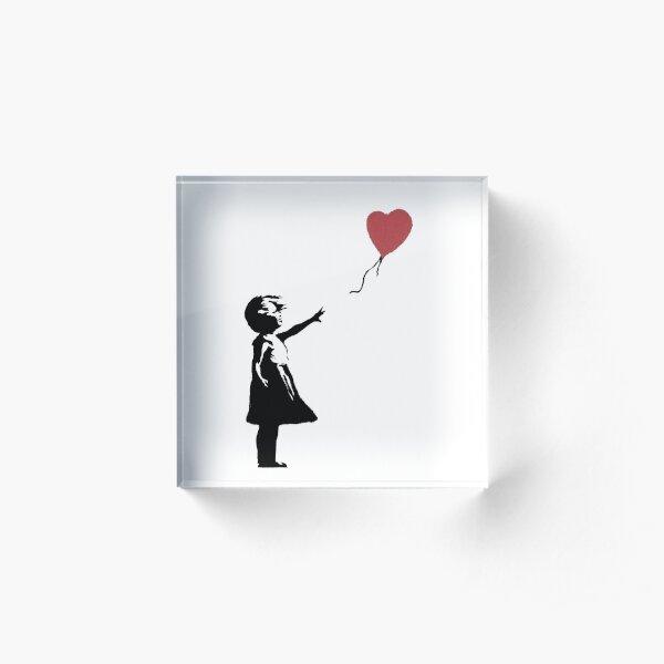 Girl With Balloon Banksy Acrylic Block