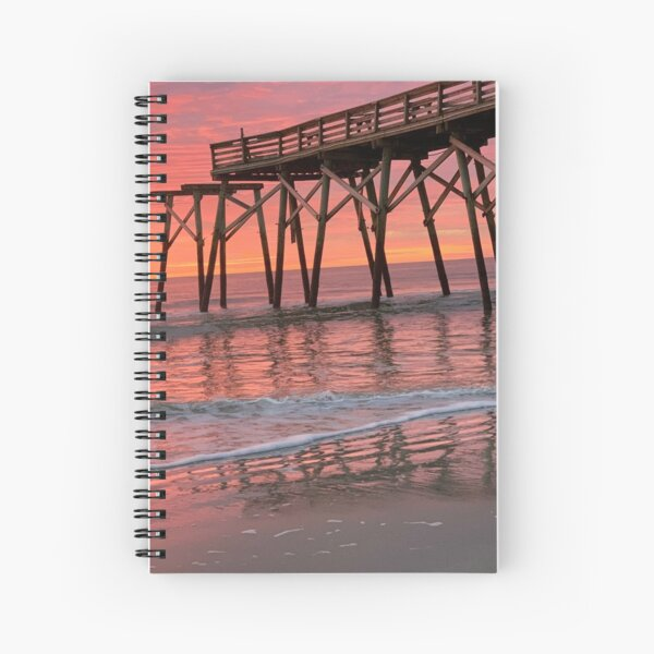Pier at Sunrise Spiral Notebook