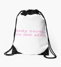 Nobody Cares Drawstring Bag