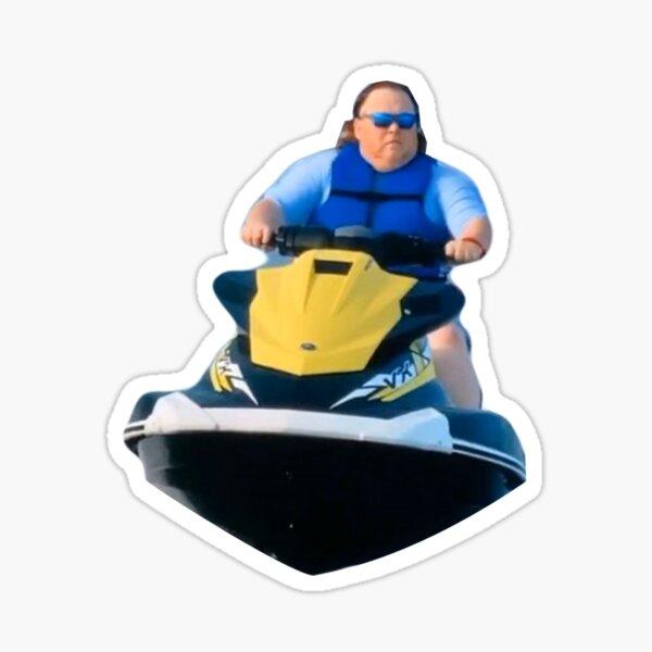 James Garretson on a Jet Ski Joe Exotic Tiger King Sticker