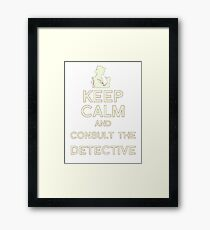Consult the Detective Framed Print