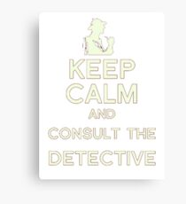Consult the Detective Canvas Print