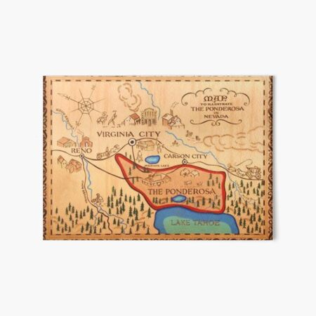 Ponderosa Map Bonanza Art Board Print
