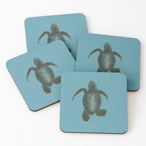 baby kemps Ridley sea turtle  Coasters (Set of 4)