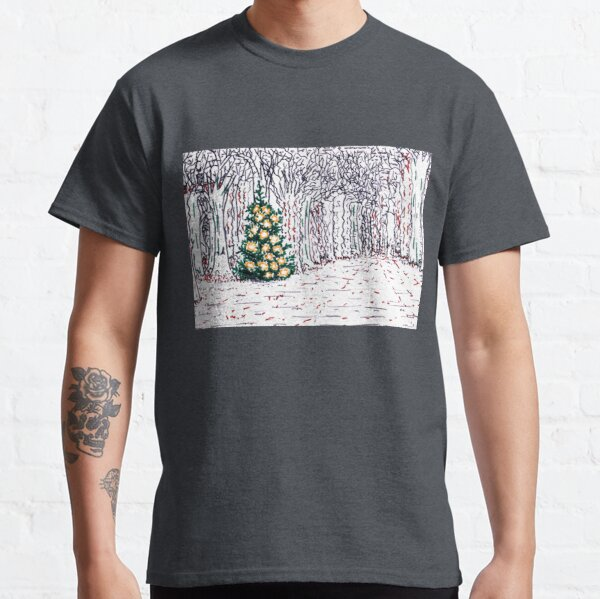 Tree with Christmas Decoration Classic T-Shirt