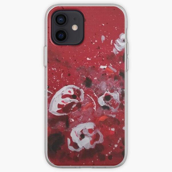 Coquelicots blancs Joyeux Coque souple iPhone