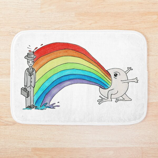 The rainbow monster Bath Mat