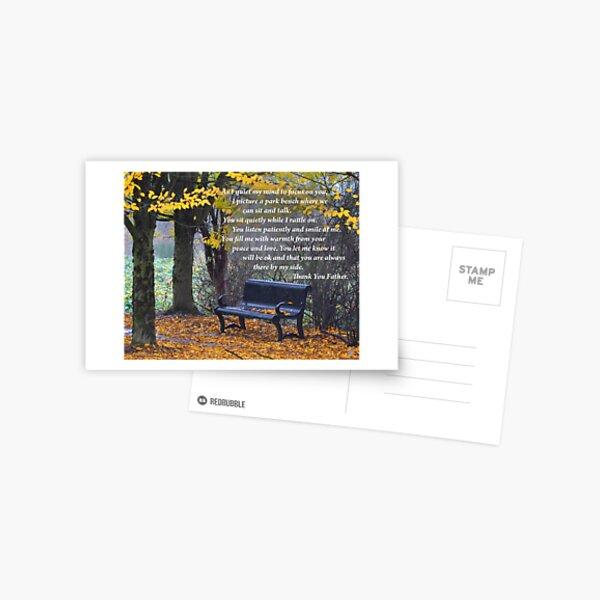 Fall Bench Postcard