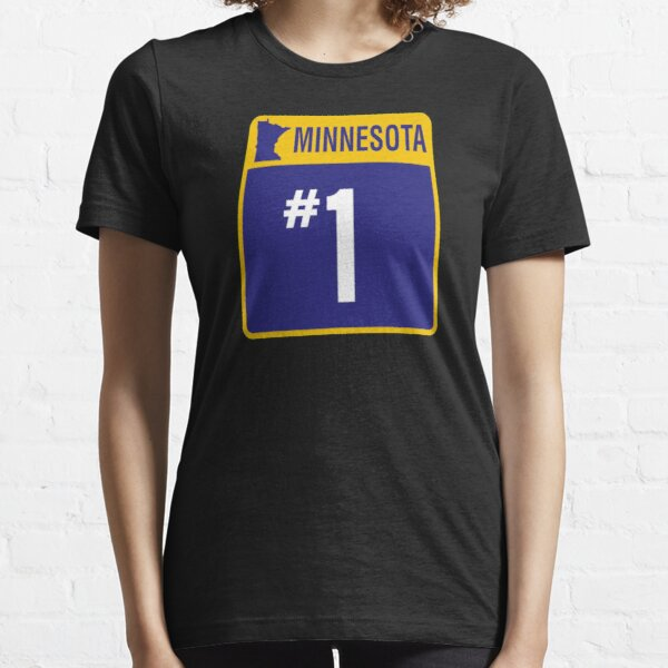 Minnesota Purple And Gold Number One Fan Gift Essential T-Shirt