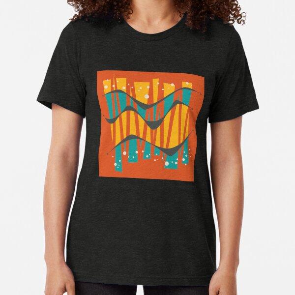 Mid Century Modern Abstract 2 Tri-blend T-Shirt