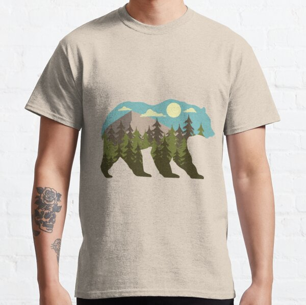 bear silhouette with beautiful landscape Classic T-Shirt