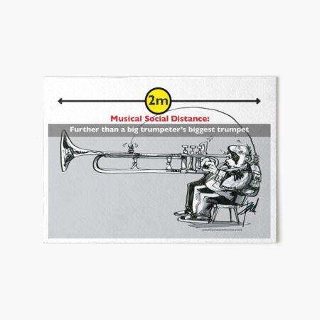 Musical Social Distance Art Board Print
