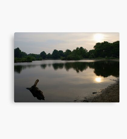 Evening At the Lake Canvas Print