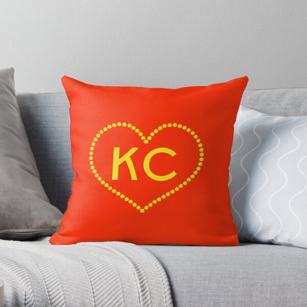 Kansas City KC Heart I Love KC Design Throw Pillow