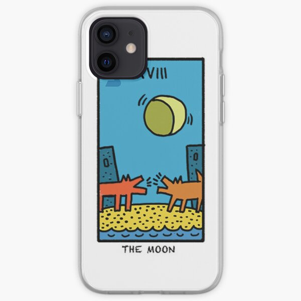 Tarot de lune de Kieth Haring Coque souple iPhone